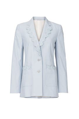 Blue Slub Jacket by Rebecca Taylor