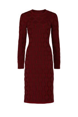 Maroon Sweater Dress by Thakoon Collective