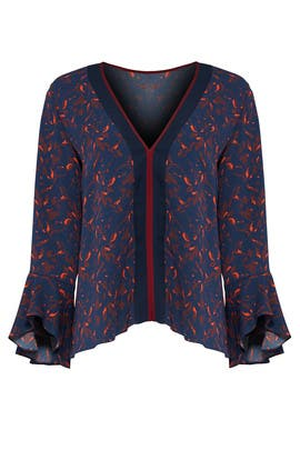 Printed Suri Top by Tanya Taylor