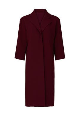 Burgundy Overcoat by Toccin