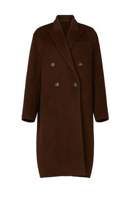 Brown Oversized Coat by VINCE.