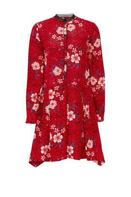 Red Floral Button Dress by Zadig & Voltaire