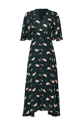 Scribble Printed Midi Dress by Derek Lam 10 Crosby
