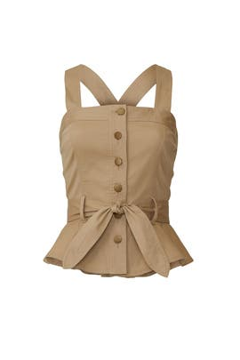 Beige Button Front Top by Marissa Webb Collective