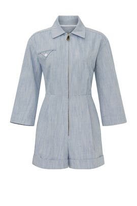 Alma Chambray Jumpsuit by Sandro