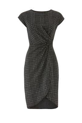 Plaid Mini Twist Dress by Leota