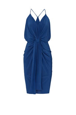 Blue Domino Dress by MISA Los Angeles