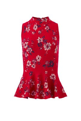 Twilight Floral Flare Top by Milly