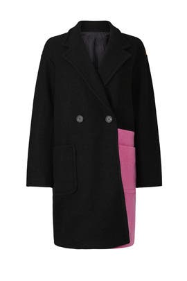 Colorblock Wool Coat by Peter Som Collective