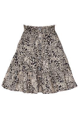 Leopard Poplin Skirt by Rebecca Taylor