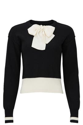 Black Bow Sweater by Sweet Baby Jamie