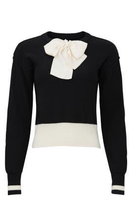 Black Bow Sweater by Sweet Baby Jamie