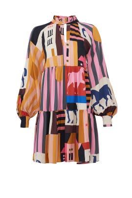 City Print Jasmine Dress by STINE GOYA
