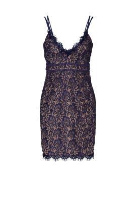 Blue Lace Dress by STYLESTALKER