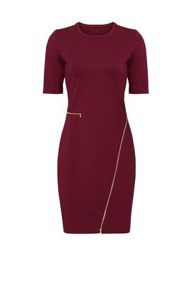 Oxblood Odeon Knit Dress by Yoana Baraschi