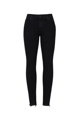 Black Farrah Skinny Ankle Jeans by AG