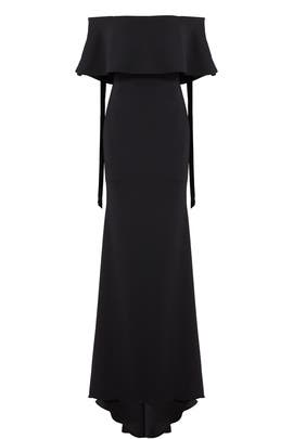 Black Grommet Gown by Badgley Mischka
