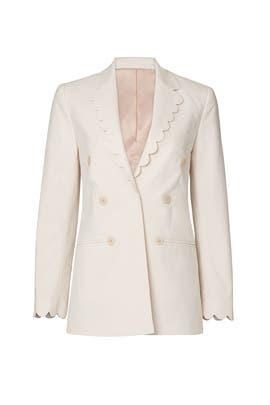 Scalloped Suiting Blazer by Rebecca Taylor