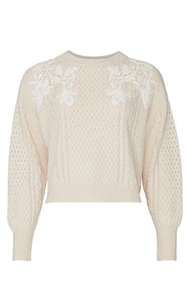 Lace Applique Pullover by Rebecca Taylor