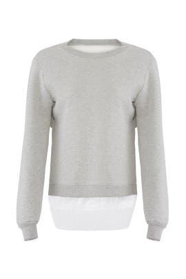 Lace Hem Pullover by Clu