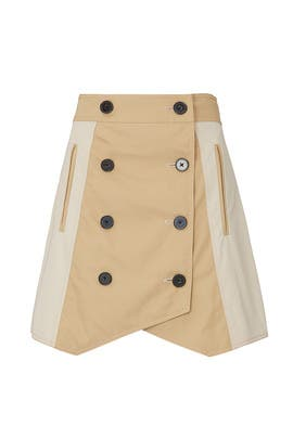 Double Breasted Trench Skirt by Derek Lam 10 Crosby
