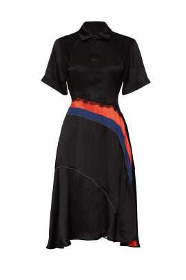 Black Diagonal Polo Dress by Koché