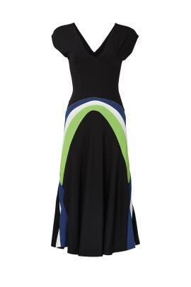 Black Decoupes Waist Dress by Koché