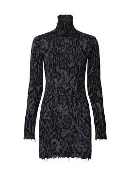 Ocelot Mock Neck Dress by Pam & Gela