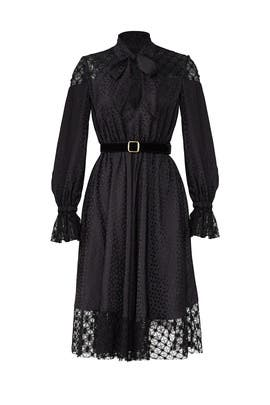 Black Lace Tie Dress by Philosophy di Lorenzo Serafini