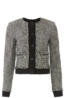 Mixed Media Tweed Jacket by RACHEL ROY COLLECTION