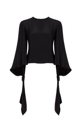 Black Tie Sleeve Blouse by DEREK LAM