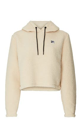 Ember Faux Sherpa Cropped Hoodie by FILA