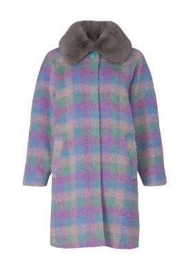 Vikki Faux Fur Collar Coat by Tanya Taylor