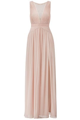 Adrianna Papell Blush Illusion Gown
