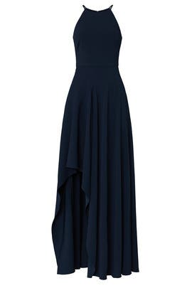 Navy Halter Gown by Badgley Mischka