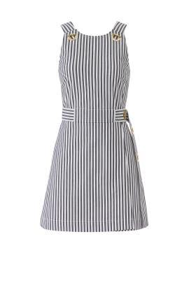 Striped Apron Dress by Derek Lam 10 Crosby