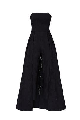 Black Overlay Jumpsuit by HALSTON