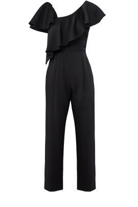 Black Ruffle Jumpsuit by Jill Jill Stuart