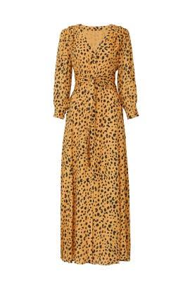 Leopard Tie Front Maxi by Nicholas
