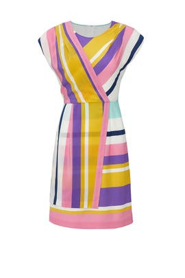 Combo Striped Faux Wrap Dress by Slate & Willow