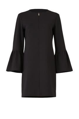 Black Structured Dress by Tibi