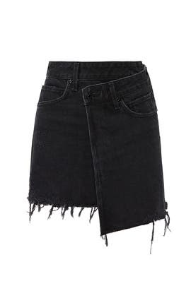 Criss Cross Denim Skirt by AGOLDE