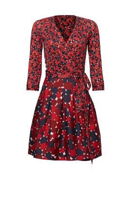 25bd2f99a28 Pink Nieves Wrap Dress by Diane von Furstenberg for  100