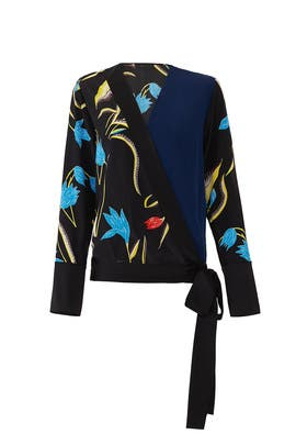 Oswald Cross Over Blouse by Diane von Furstenberg