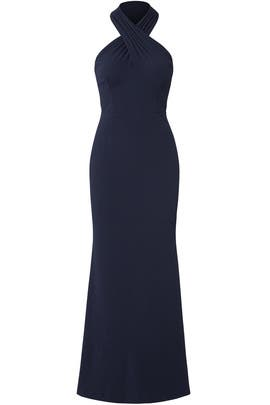 Navy Ottoman Gown by JS Collection