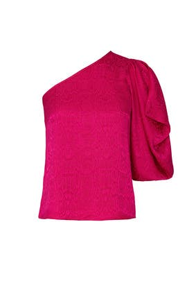 Pink One Sleeve Tie Top by krisa