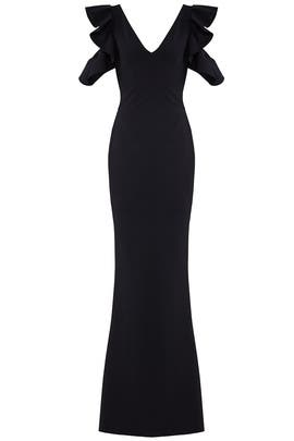 Black Buffy Gown by La Petite Robe di Chiara Boni