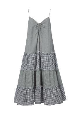 Gingham Sweetheart Midi Dress by Nicholas