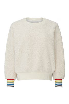 Faux Sherpa Sweatshirt by Sundry