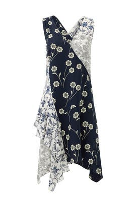 Navy Porcelain Patchwork Dress by Derek Lam 10 Crosby
